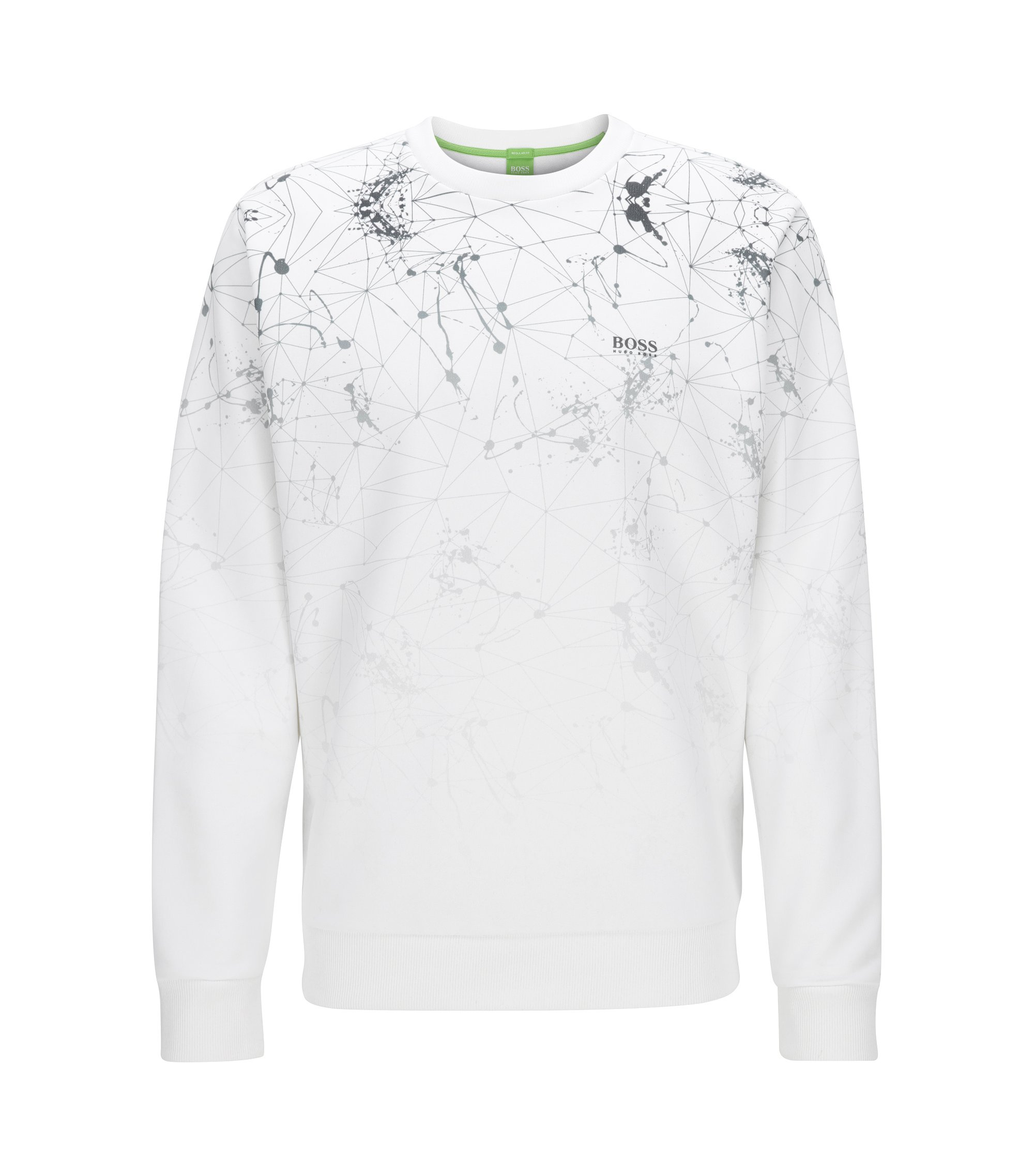 Crew-neck sweater in a technical blend, White
