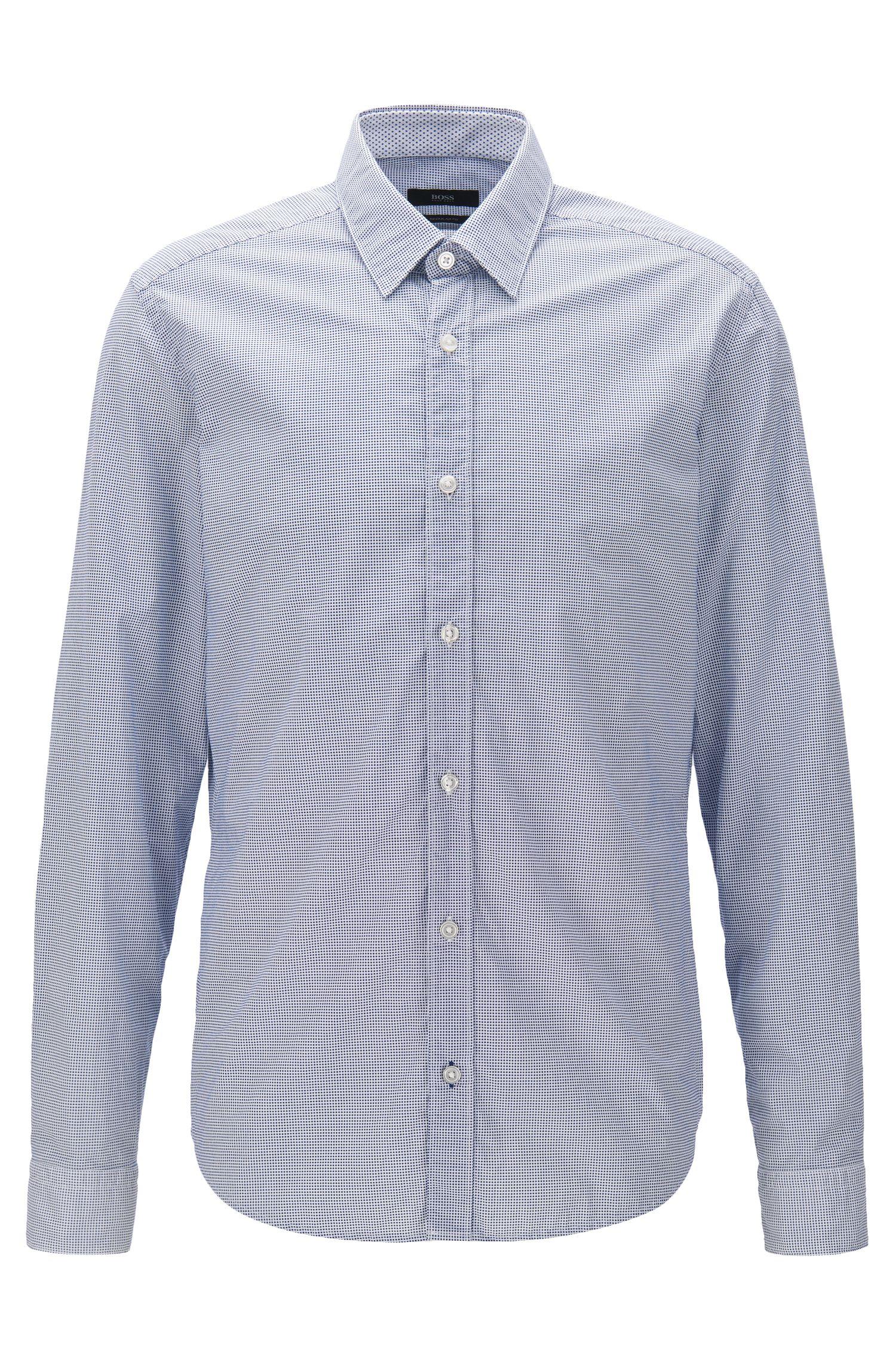 Regular-fit shirt in printed cotton poplin