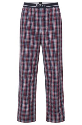 Pyjama-Hose aus Baumwoll-Popeline, Gemustert