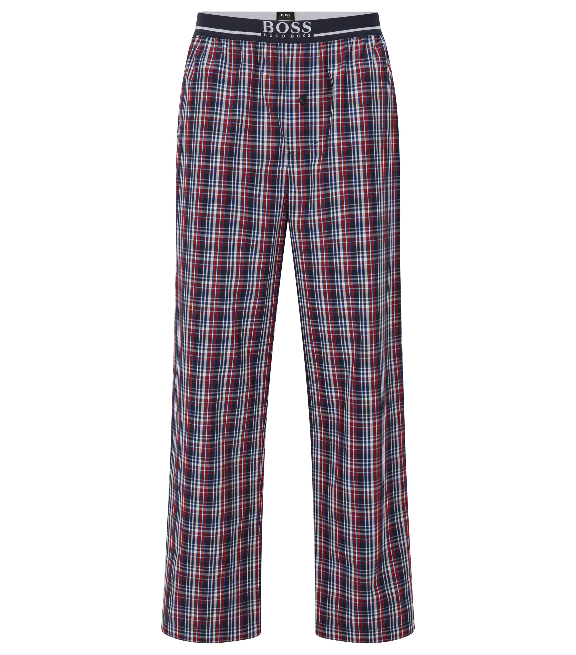 Pyjama bottoms in cotton poplin, Patterned