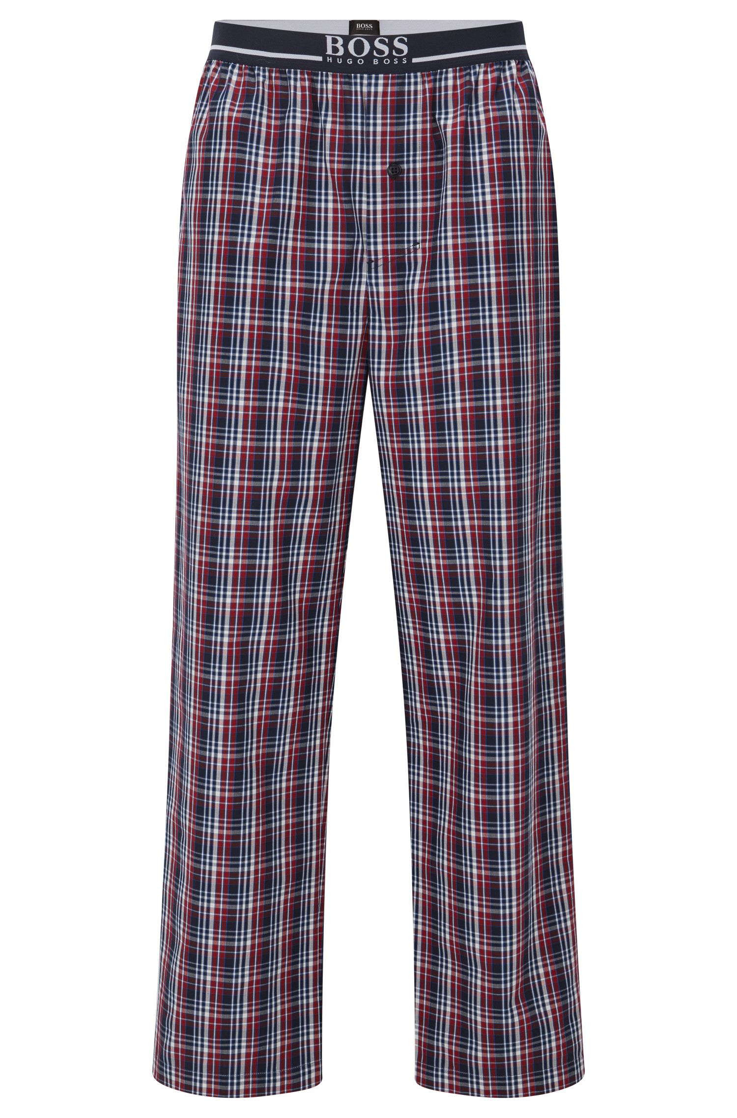 Pyjama bottoms in cotton poplin