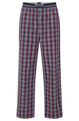 Pyjama bottoms in cotton poplin, Red