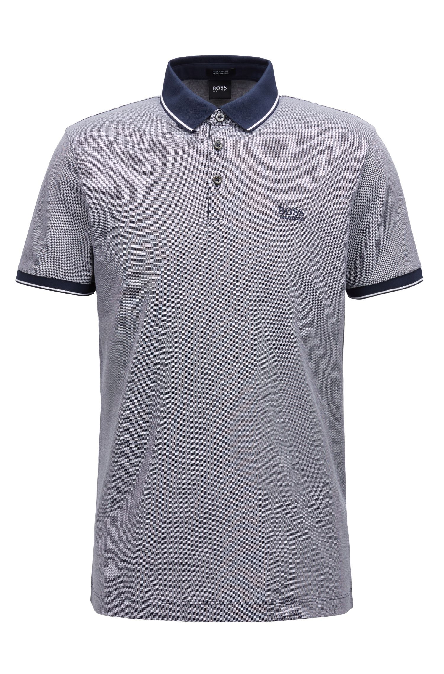 Polo regular fit in piqué di cotone mercerizzato