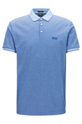 Regular-Fit Poloshirt aus merzerisierter Baumwolle, Dunkelblau