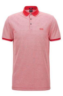 Regular-Fit Poloshirt aus merzerisierter Baumwolle, Rot