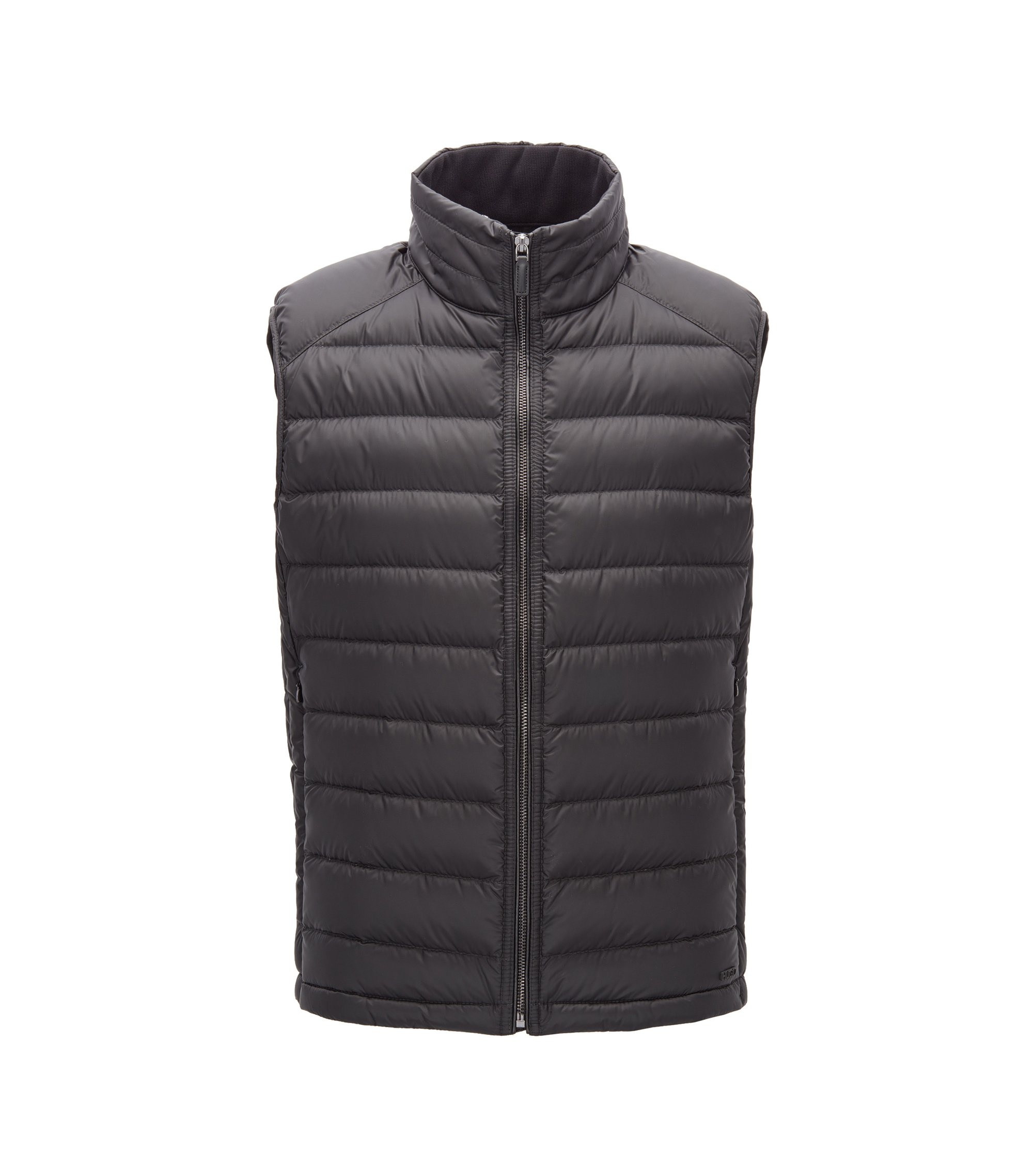 Regular-fit down-filled gilet, Black