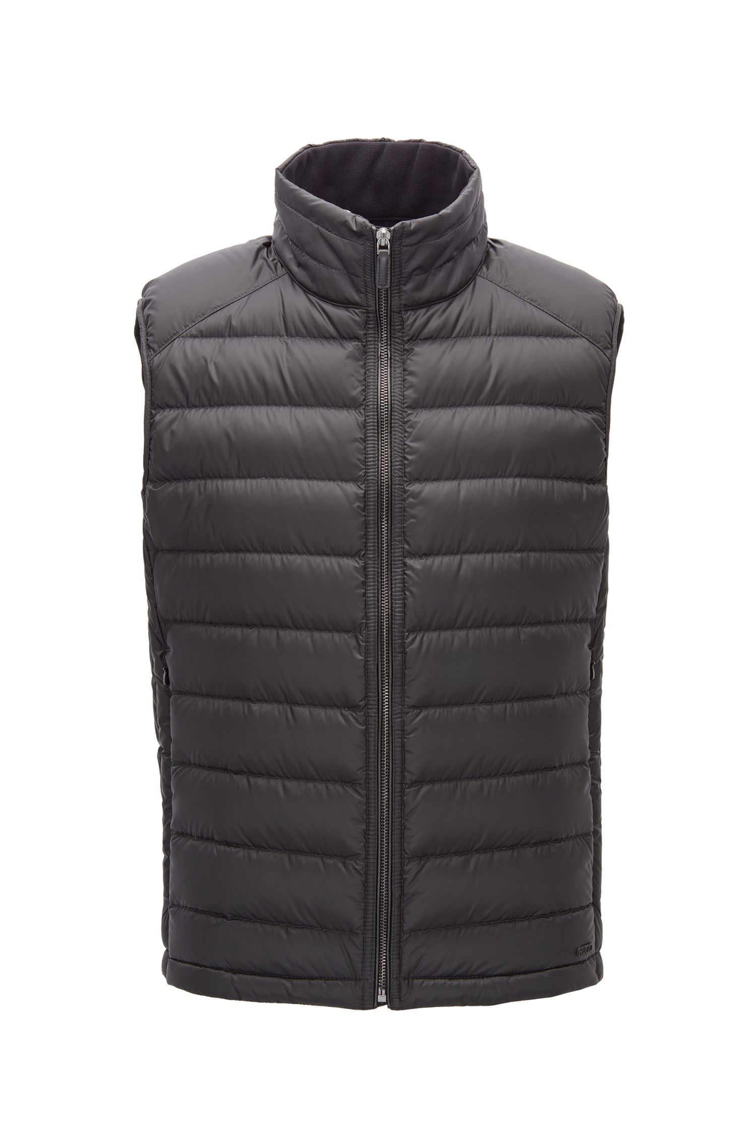 Regular-fit bodywarmer met met donsvulling