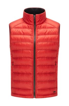 Regular-fit down-filled gilet, Red