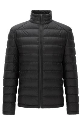 Regular-fit lightweight down jacket in a technical fabric, Black