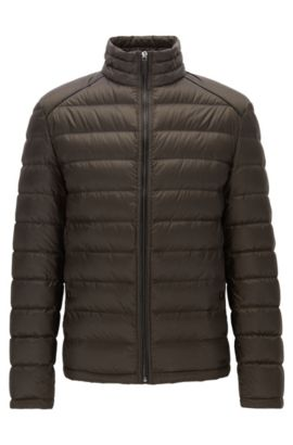 Regular-fit lightweight down jacket in a technical fabric, Dark Green