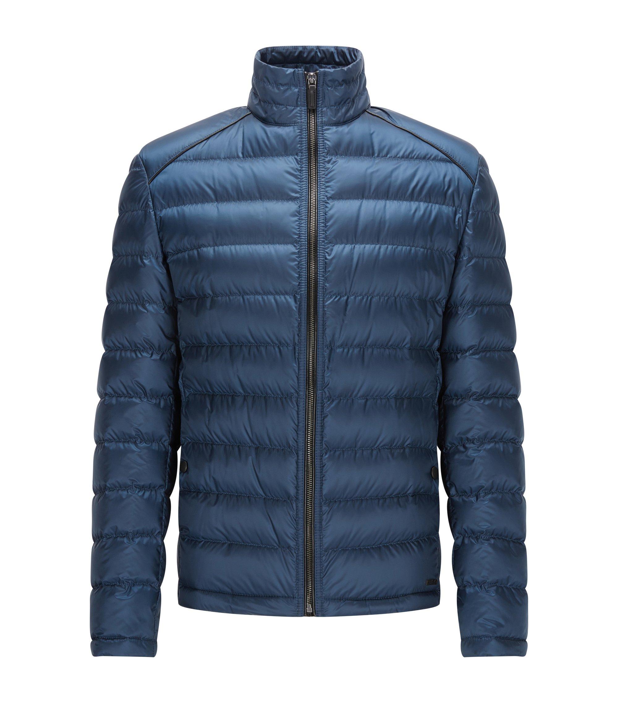 Piumino leggero regular fit in tessuto tecnico, Blu scuro