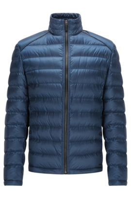 Regular-fit lightweight down jacket in a technical fabric, Dark Blue