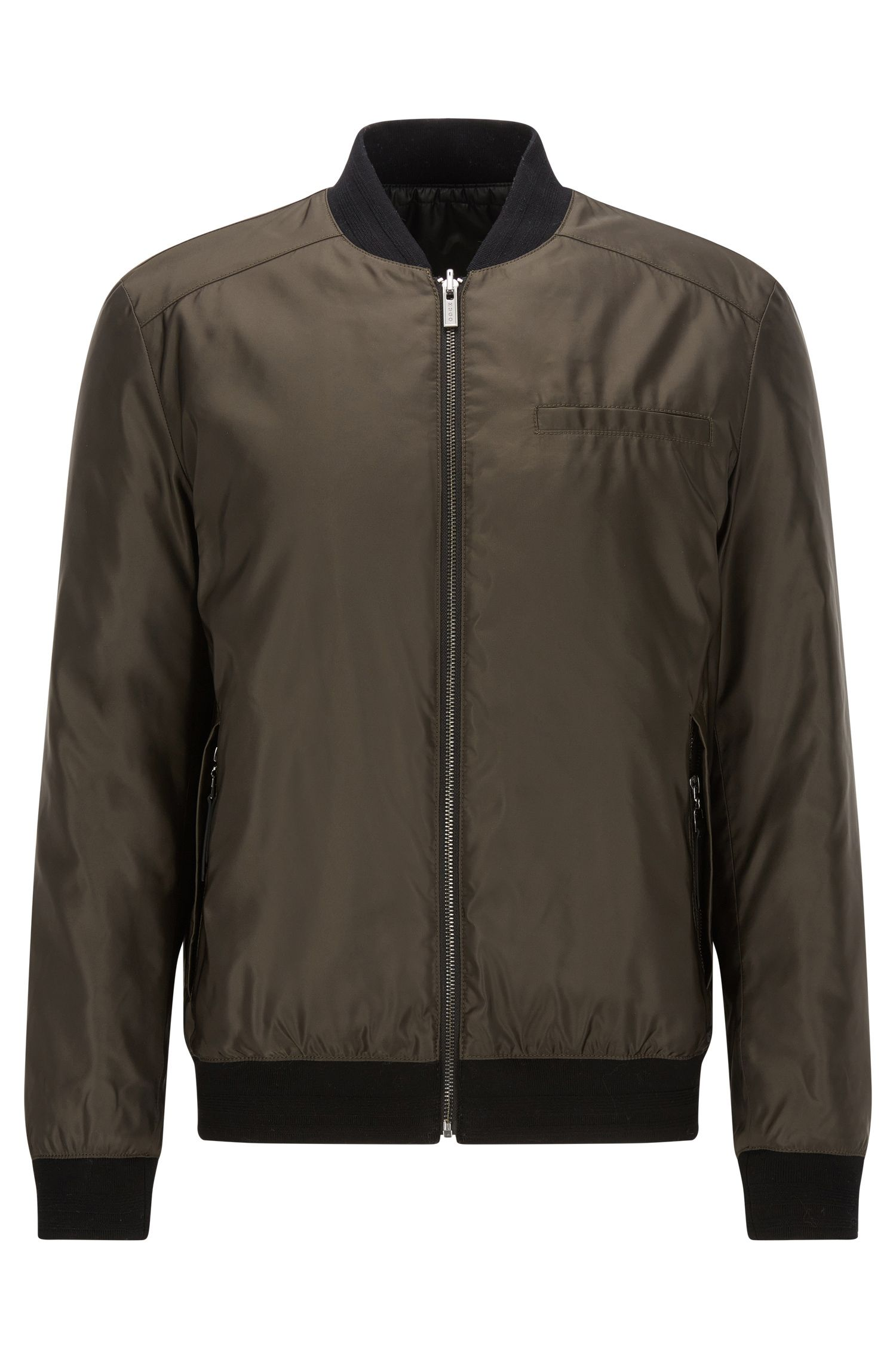 Slim-fit reversible bomber jacket with Teflon finish