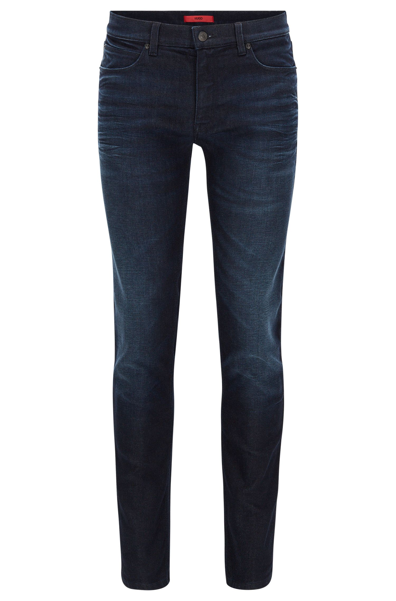 Slim-Fit Jeans aus dunklem Stretch-Denim