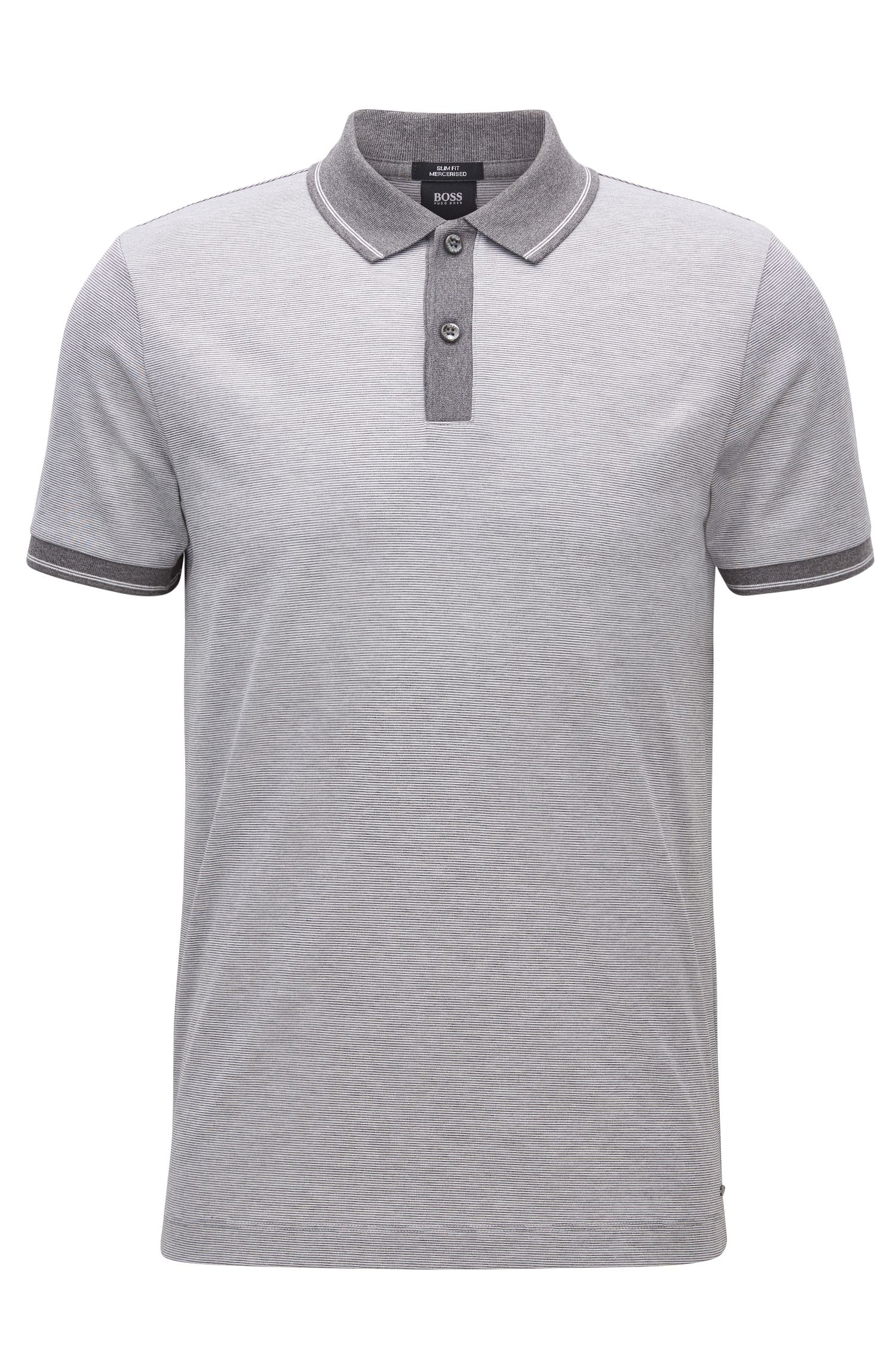 Polo Slim Fit en coton mercerisé