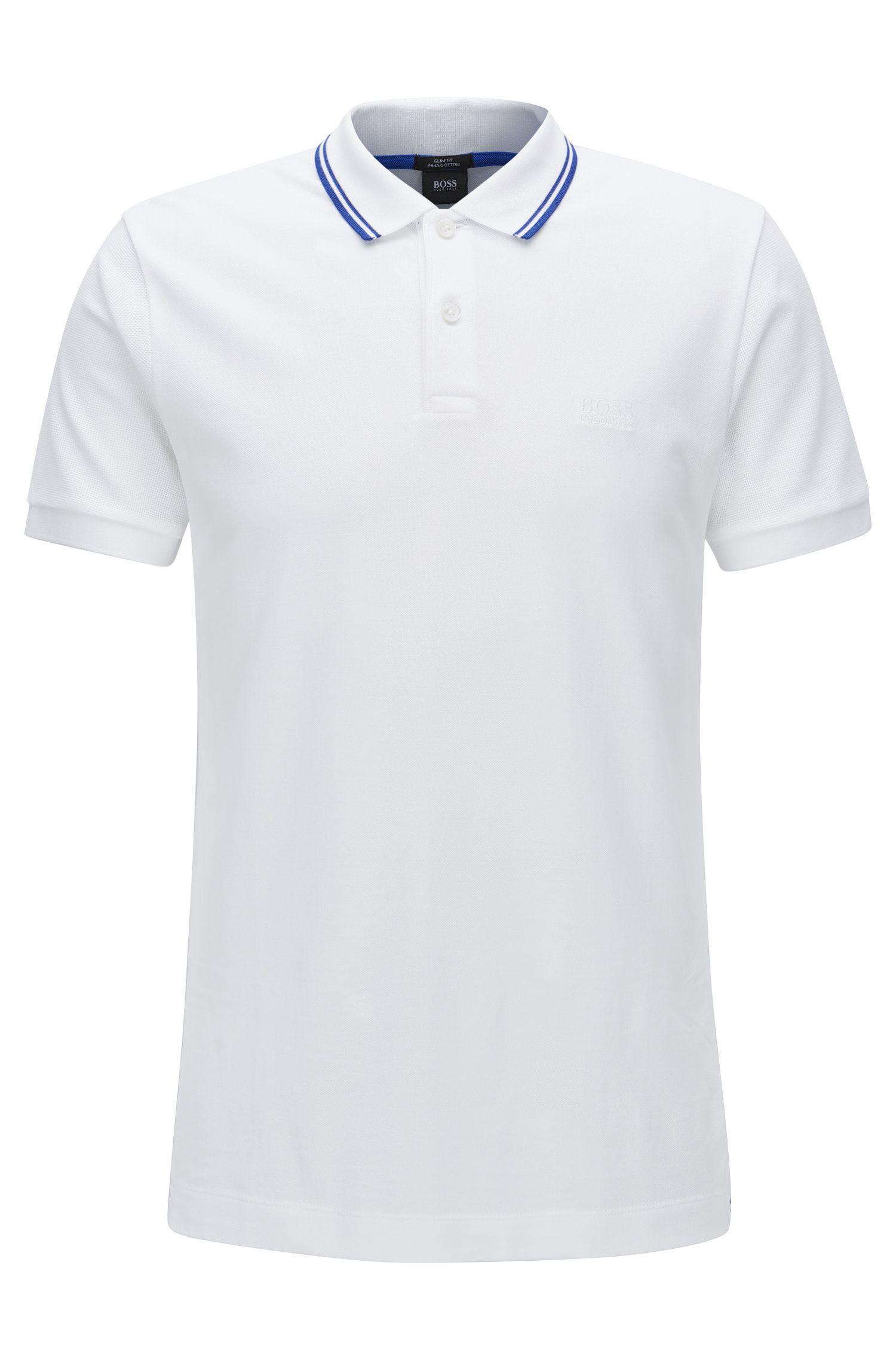 Slim-Fit-Poloshirt aus Baumwolle