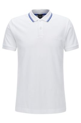 Slim-Fit-Poloshirt aus Baumwolle, Weiß