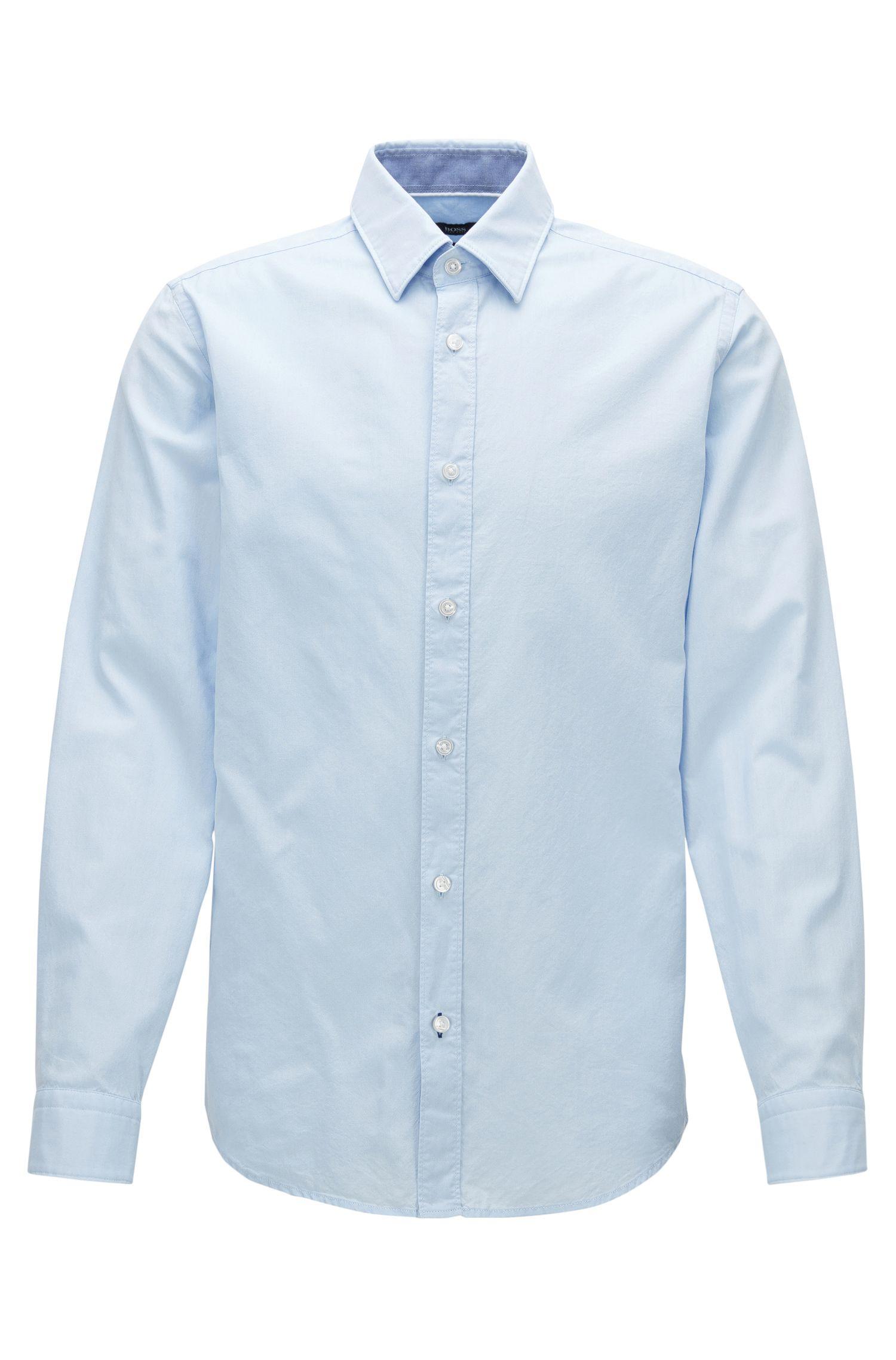 Regular-Fit-Hemd aus gewaschener Oxford-Baumwolle