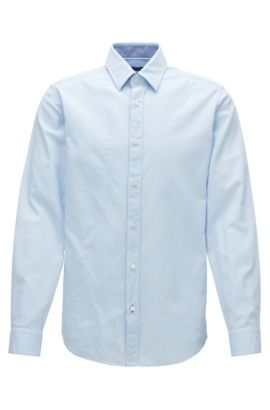Chemise Oxford Regular Fit en coton lavé, Bleu vif