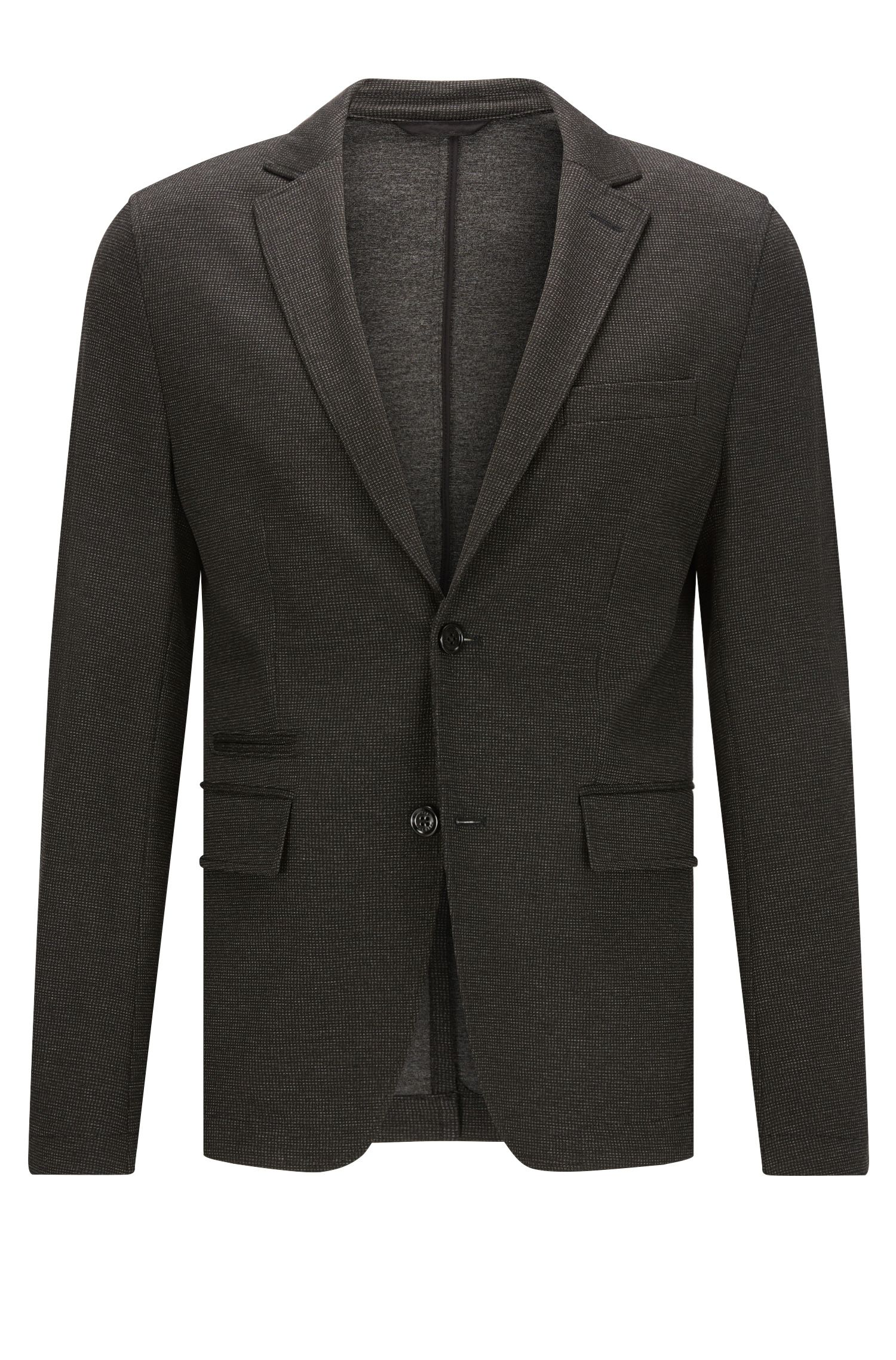 Extra-slim-fit jacket in technical jersey