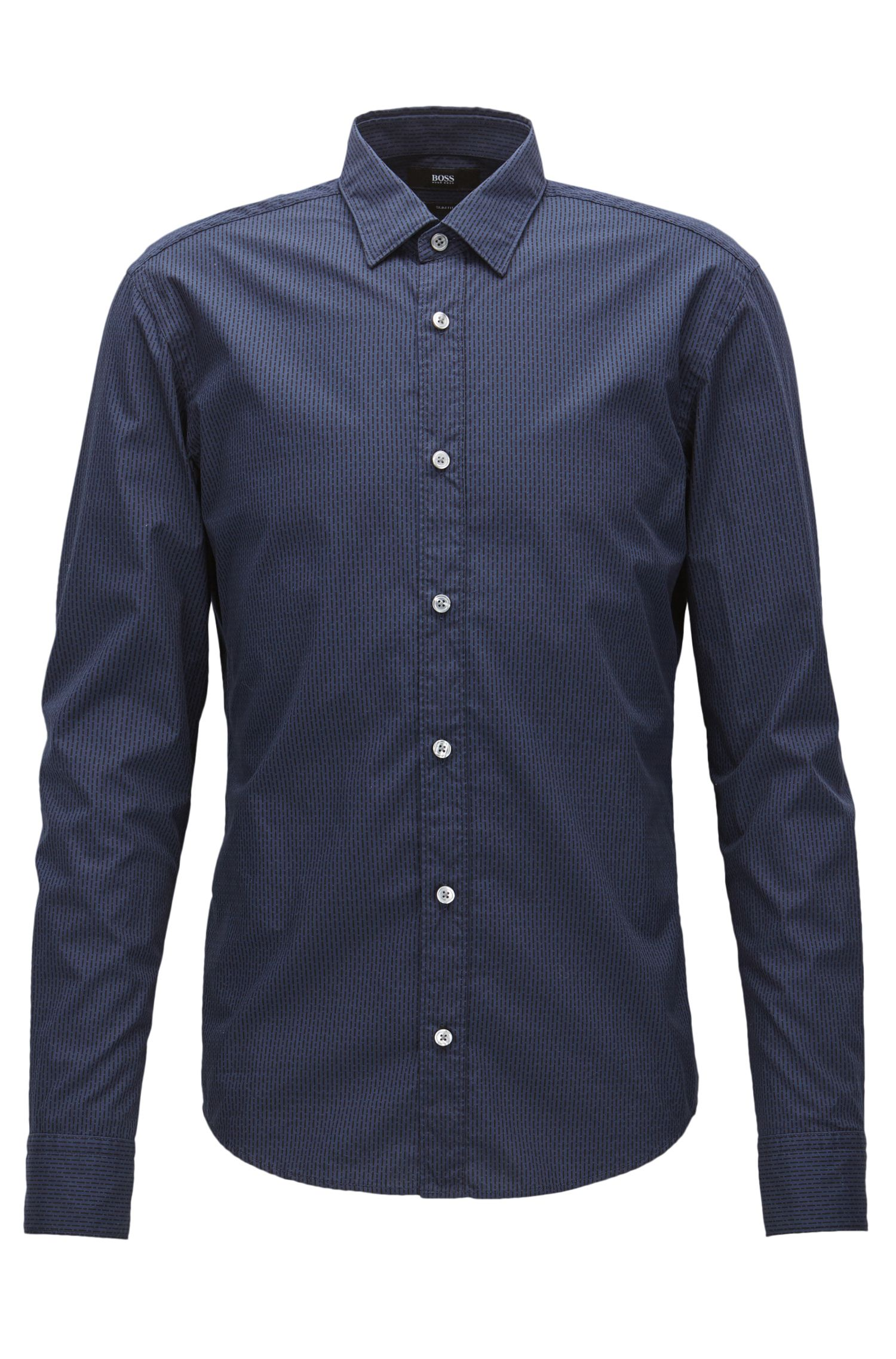 Patterned slim-fit cotton shirt for Mercedes-Benz Collection