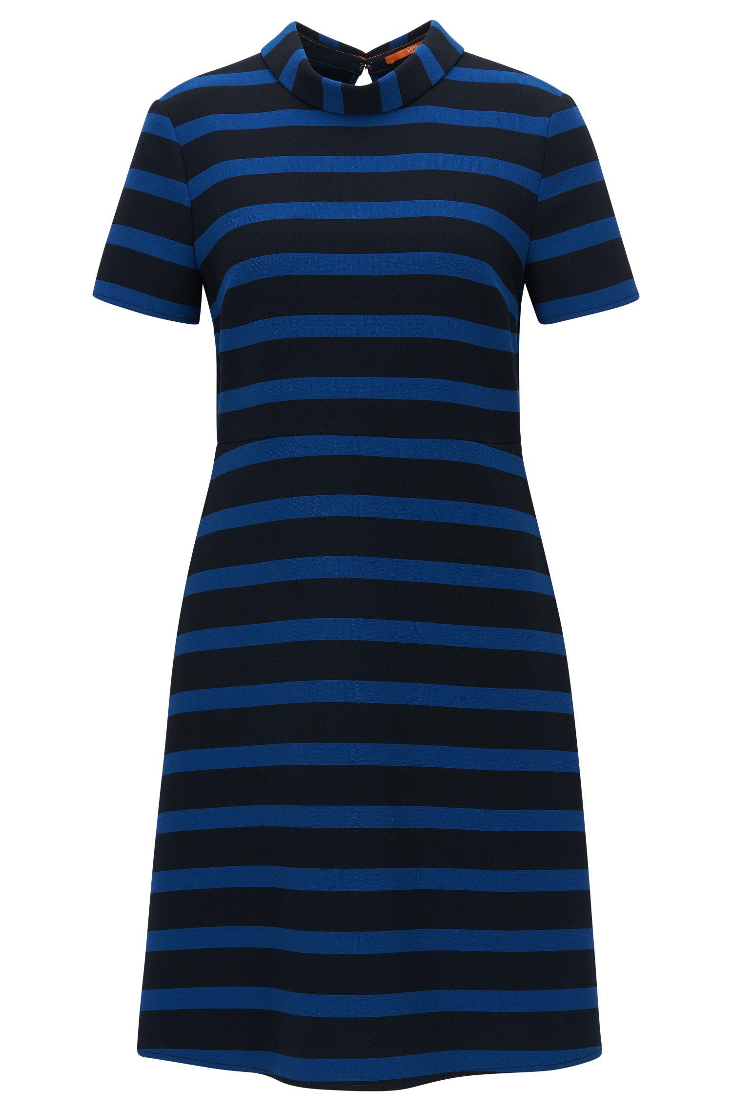 Regular-fit jurk in A-lijn, van stretchmateriaal