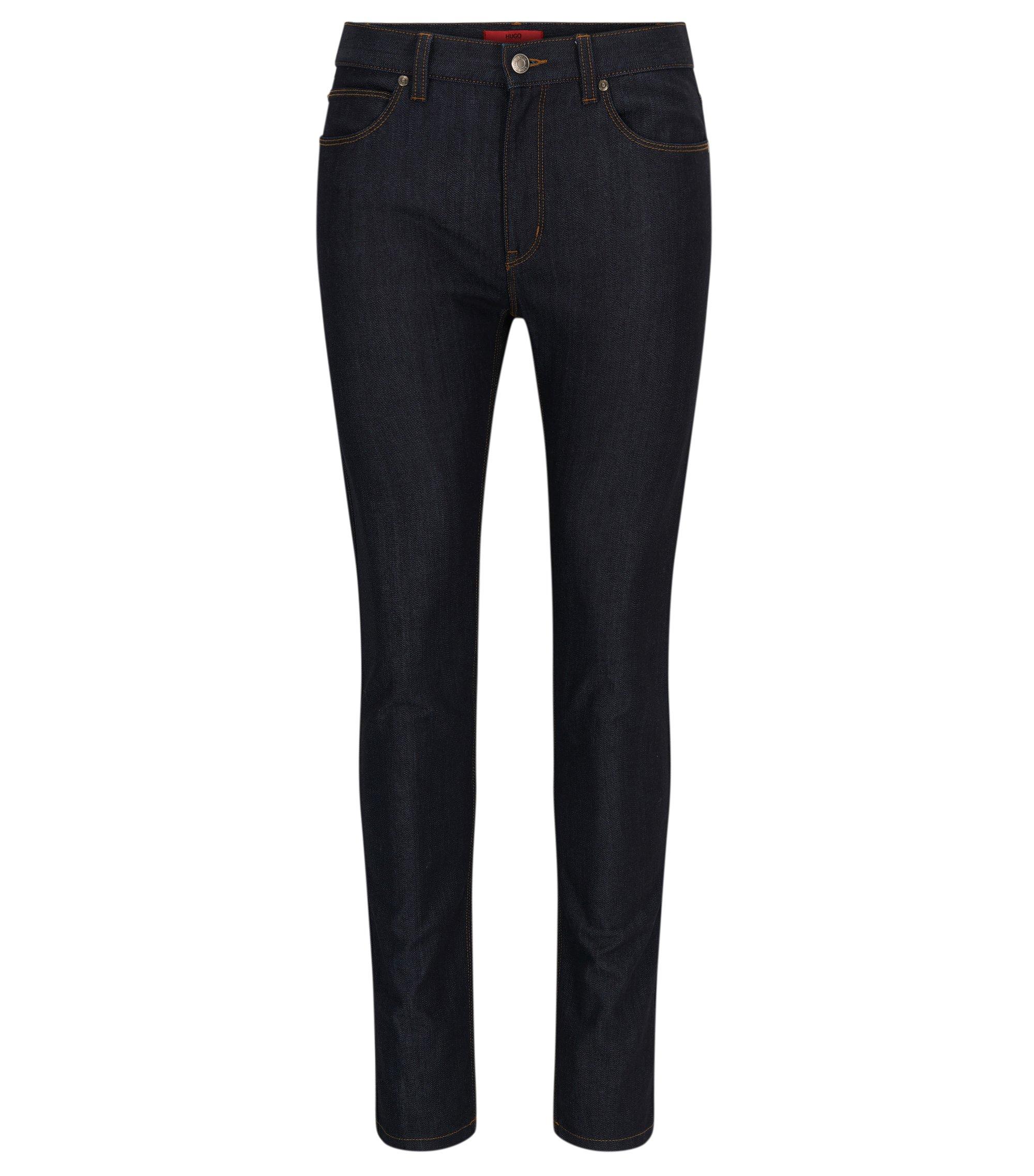 Jeans skinny fit in denim elasticizzato ad alta resistenza, Blu scuro