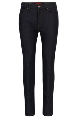 Skinny-fit jeans in high-resistance stretch denim, Dark Blue
