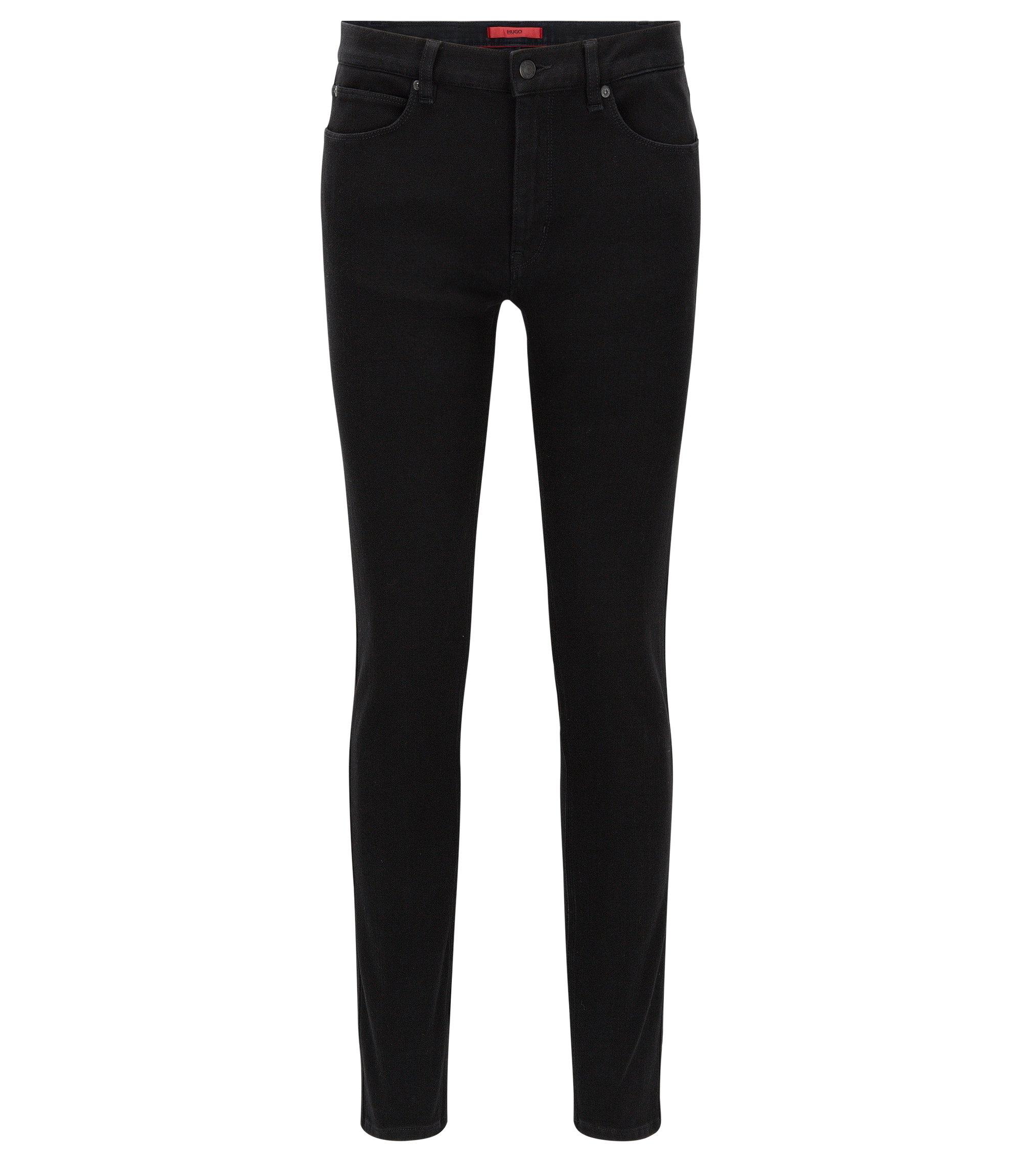 Skinny-Fit Jeans aus Stretch-Denim, Schwarz