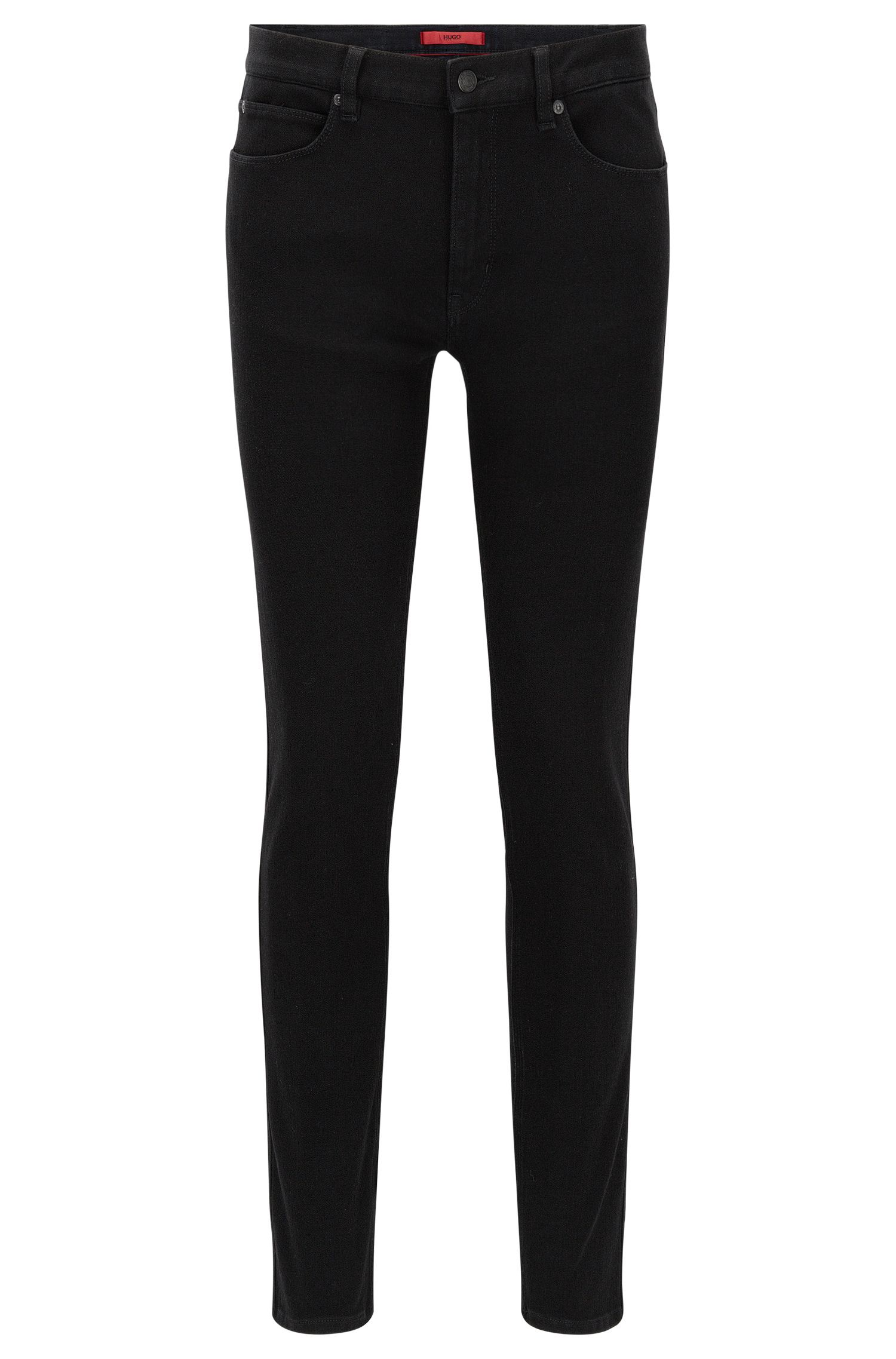Skinny-fit jeans in black super-stretch denim