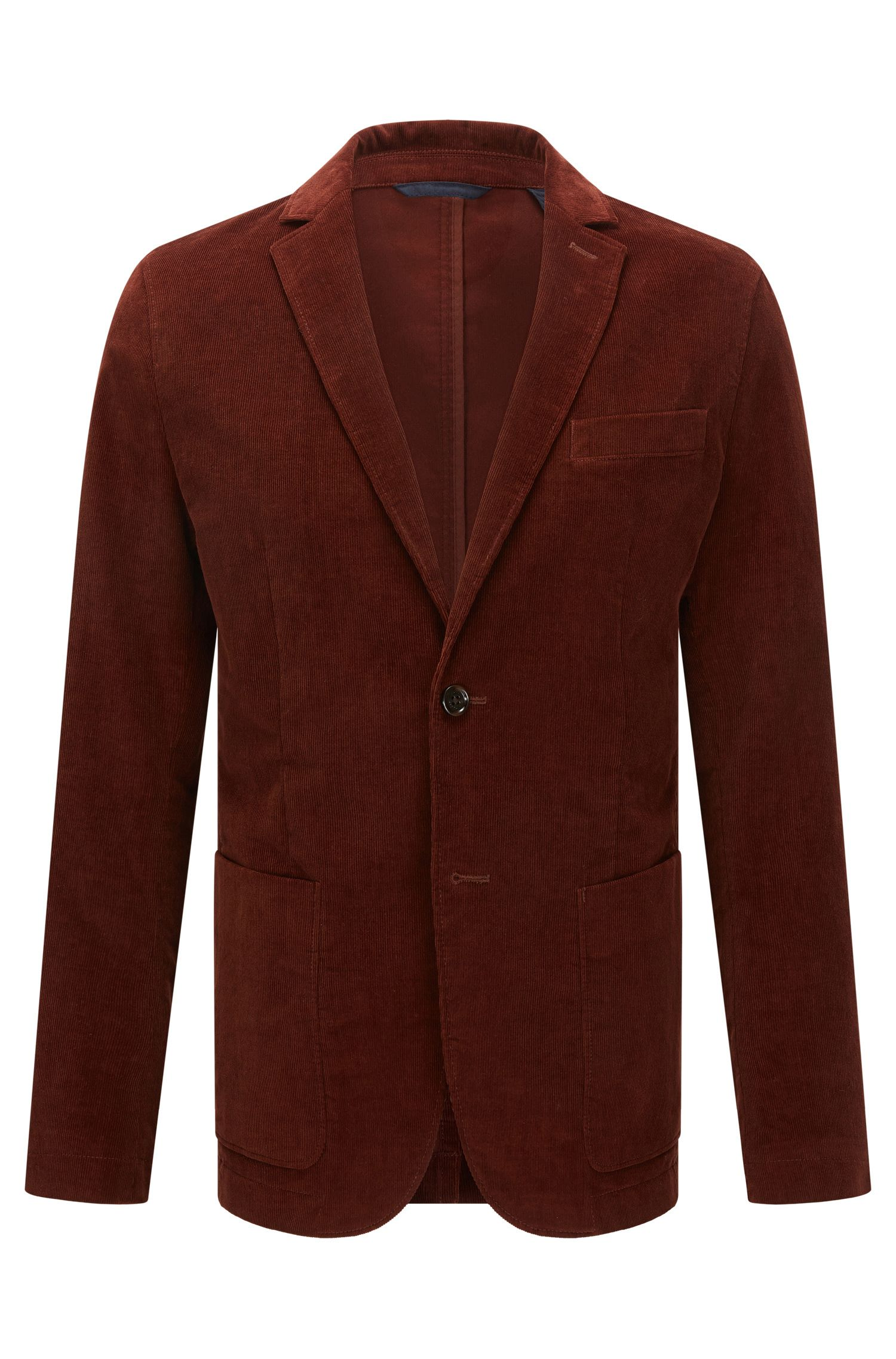 Slim-fit fine-ribbed corduroy jacket