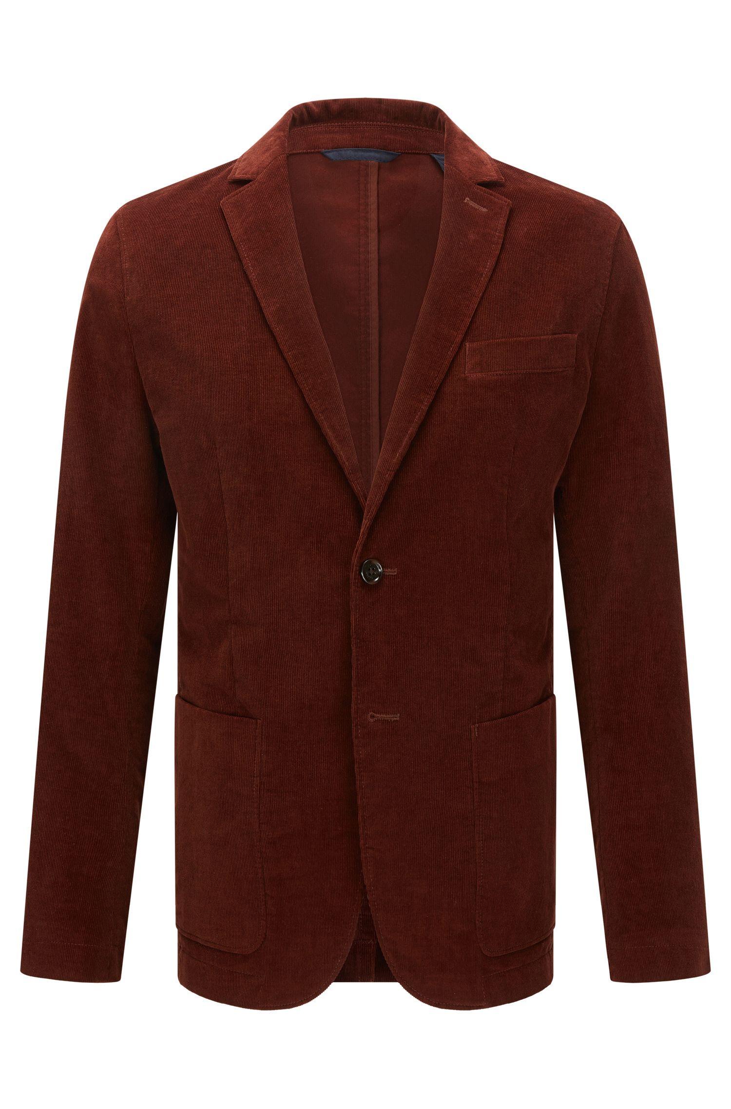 Slim-fit fine-ribbed corduroy jacket