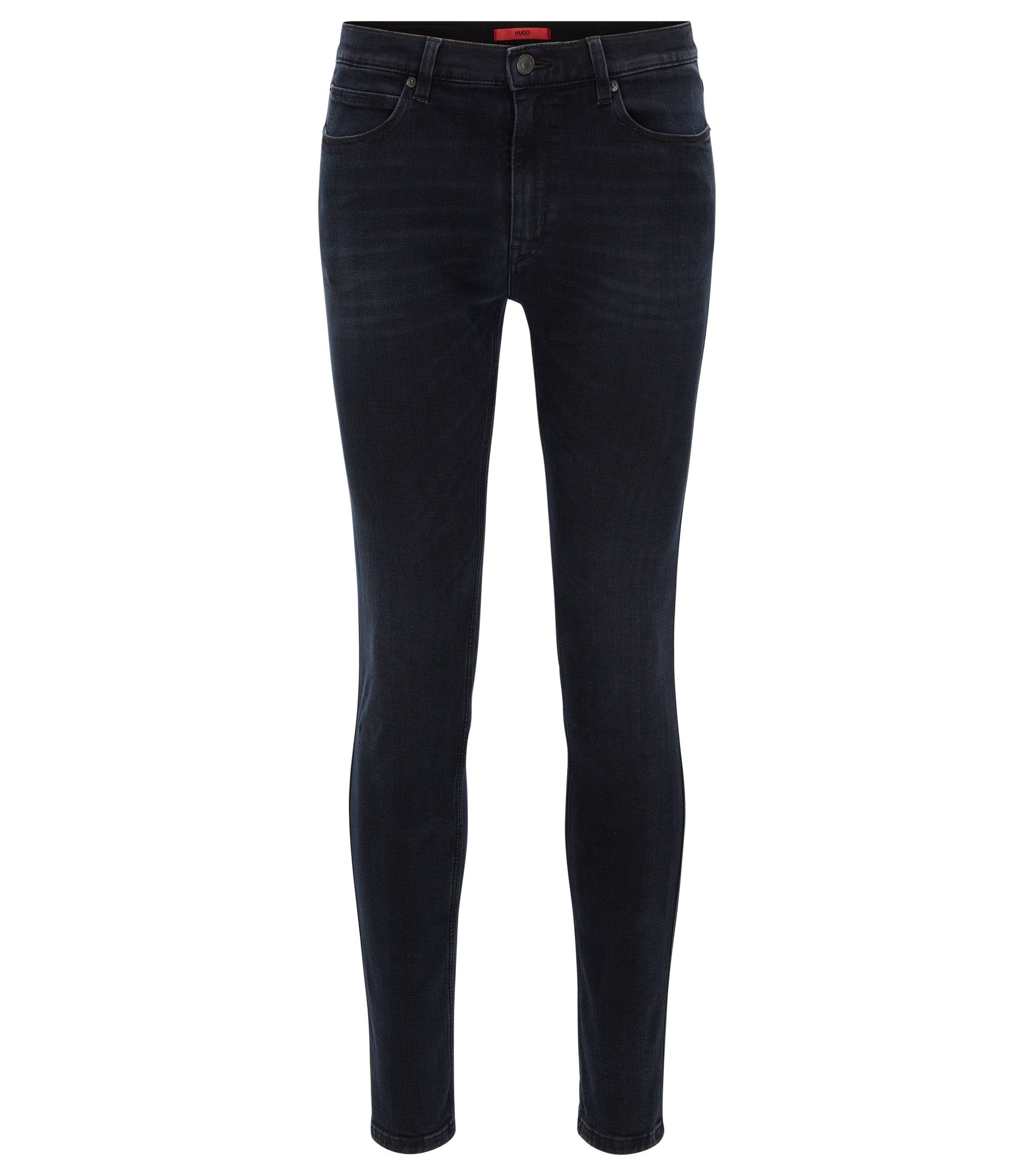 Skinny-Fit Jeans aus Stretch-Denim, Schwarz