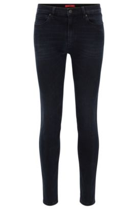 Skinny-fit jeans in super-stretch denim, Black