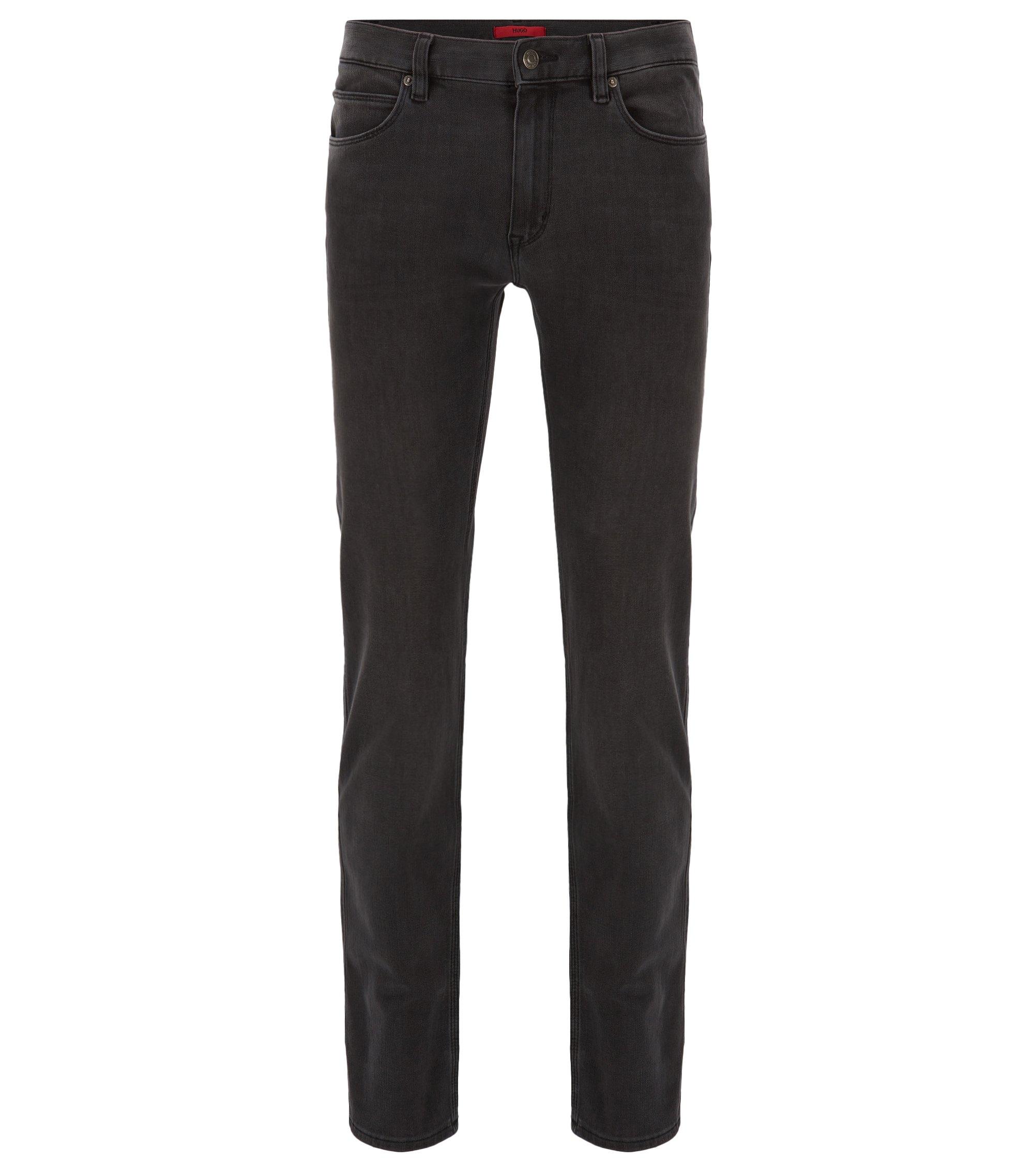 Slim-fit jeans in stretch denim, Grey