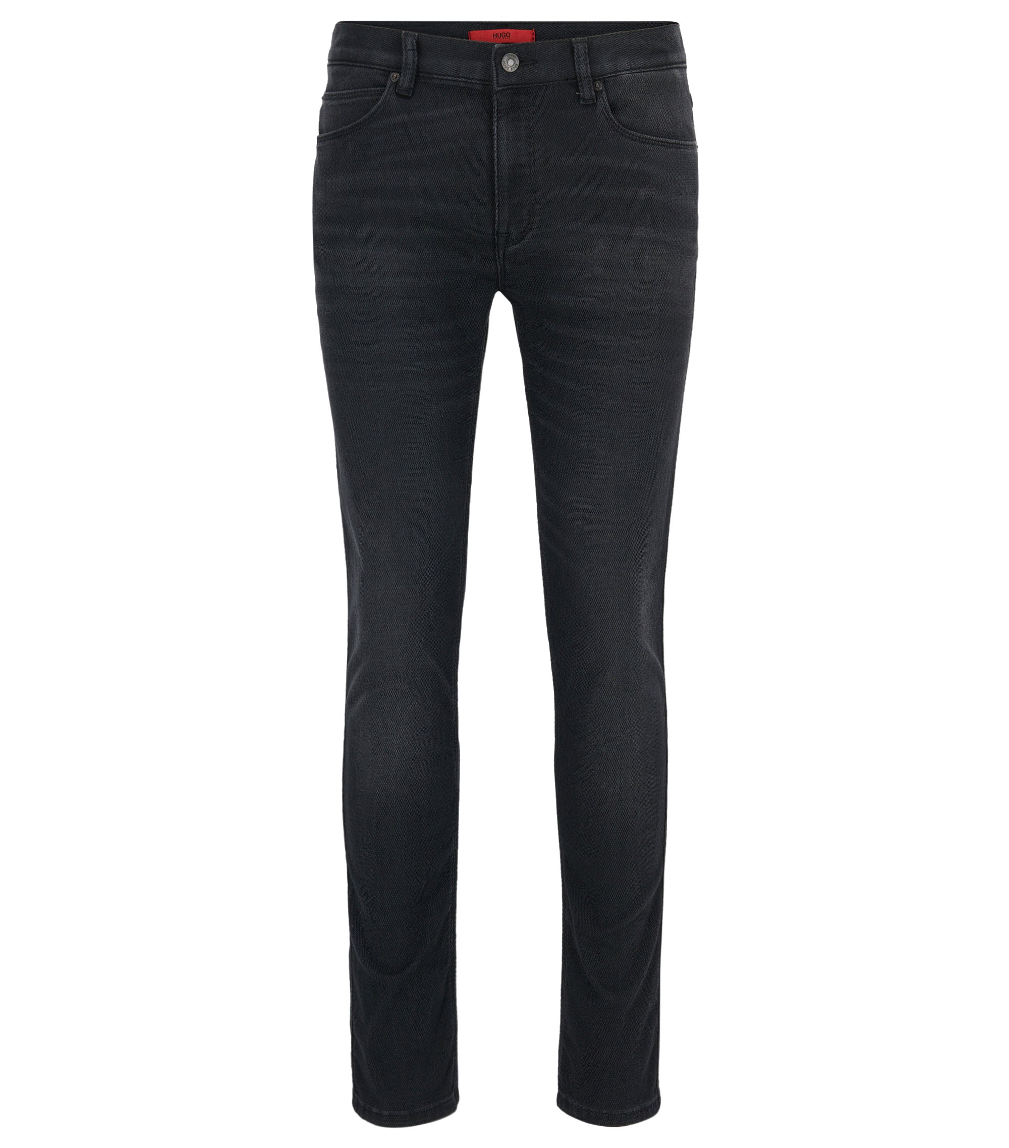 Skinny-fit jeans van super-stretchdenim met Coolmax®, Antraciet