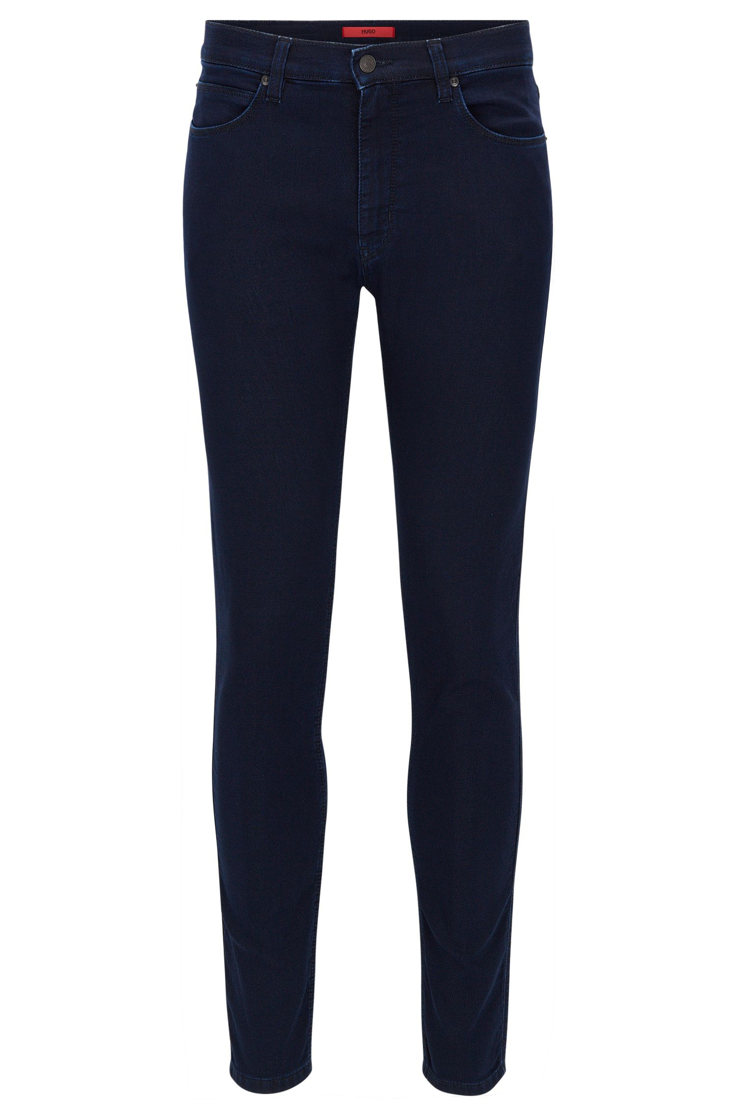 Skinny-fit jeans in indigo jersey denim
