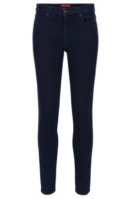 Jeans skinny fit in jersey di denim color indaco, Blu scuro