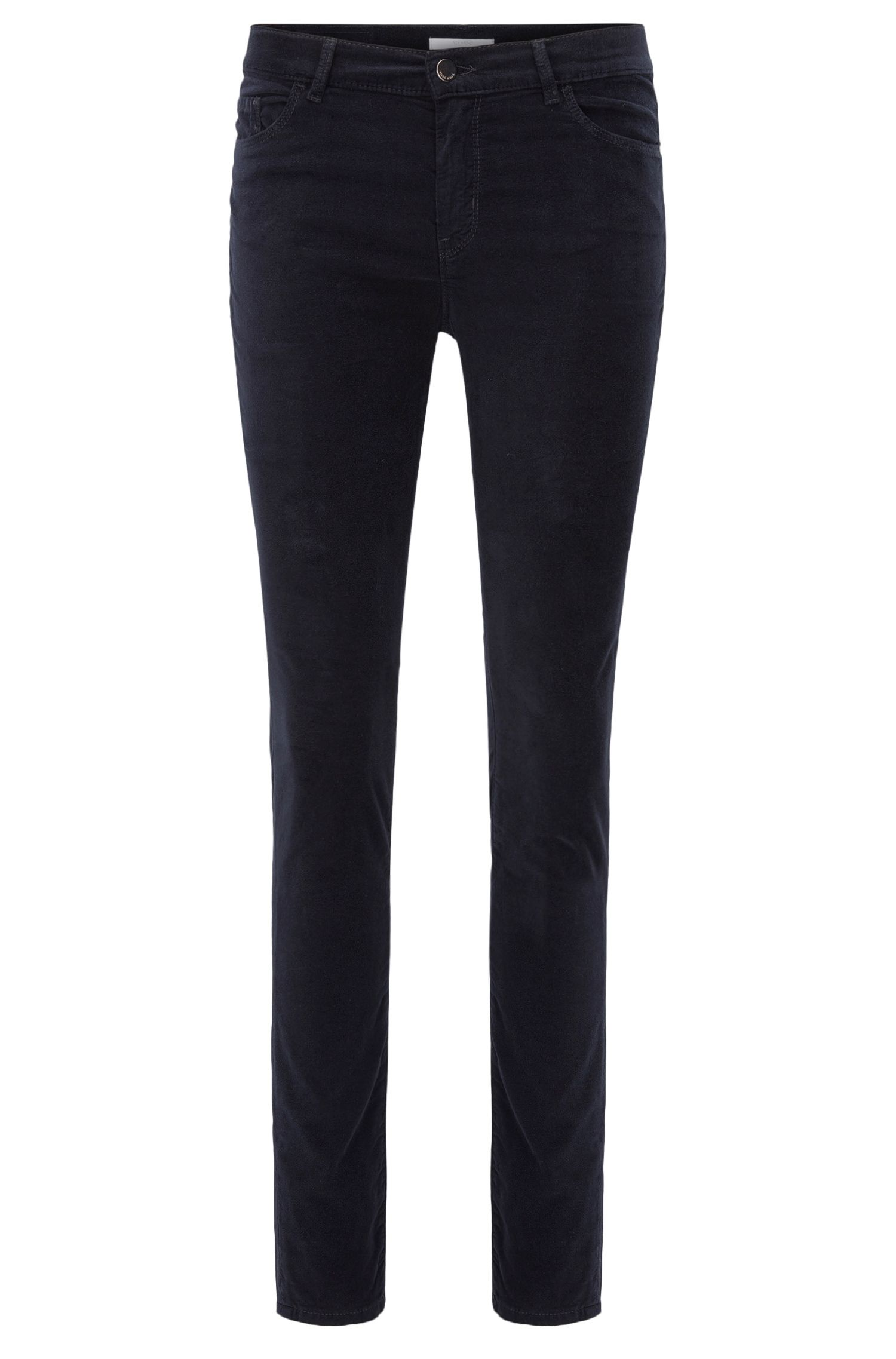Jeans Slim Fit en velours italien stretch