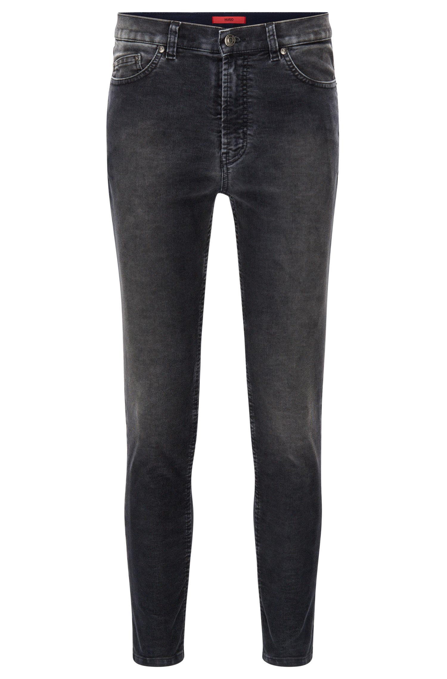 Jeans Tapered Fit en velours côtelé stretch