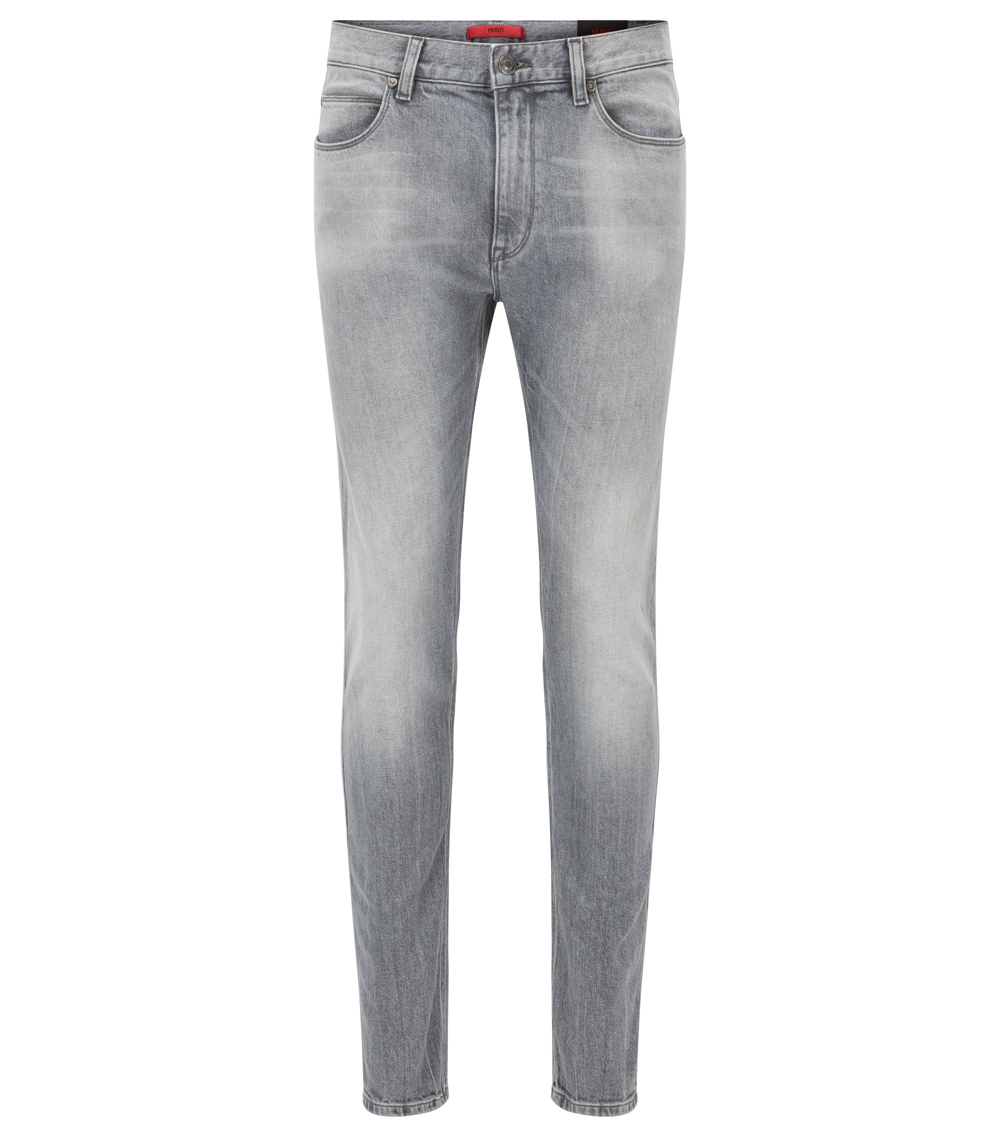 Skinny-fit jeans in stretch denim, Silver