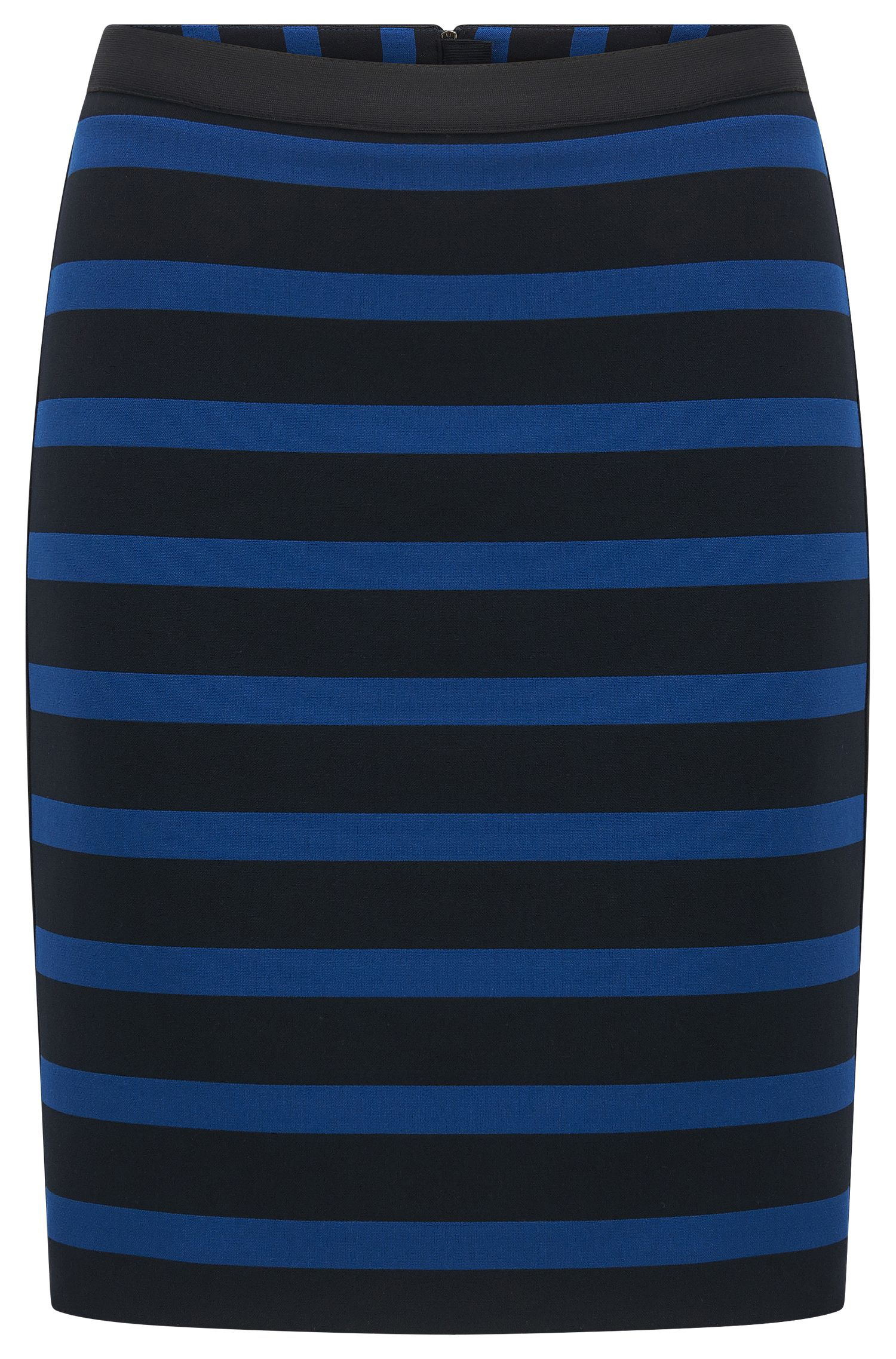 Slim-fit skirt in stripe stretch fabric