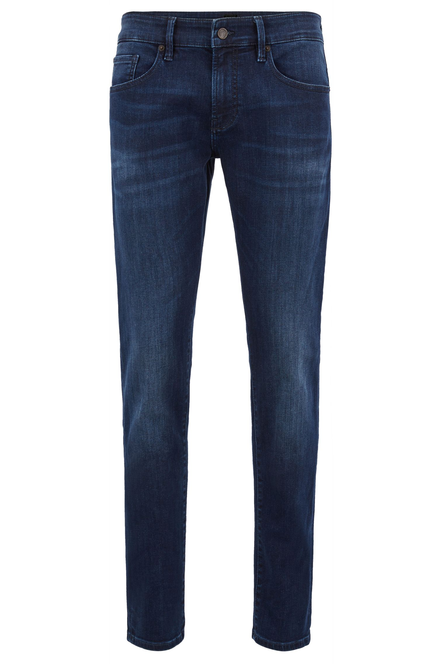 Skinny-fit washed stretch jeans