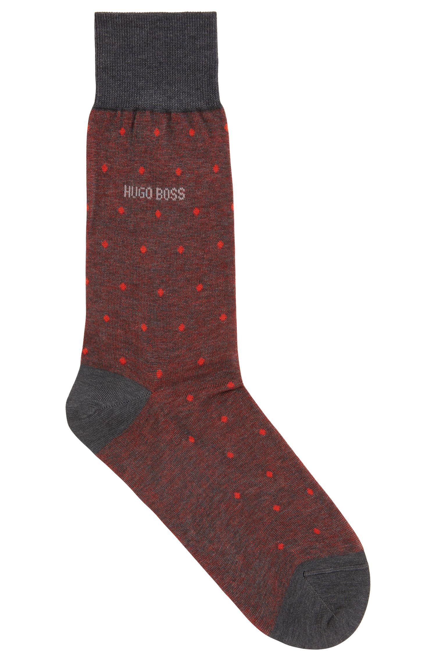 Mittelhohe Socken aus merzerisierter Baumwolle mit Muster