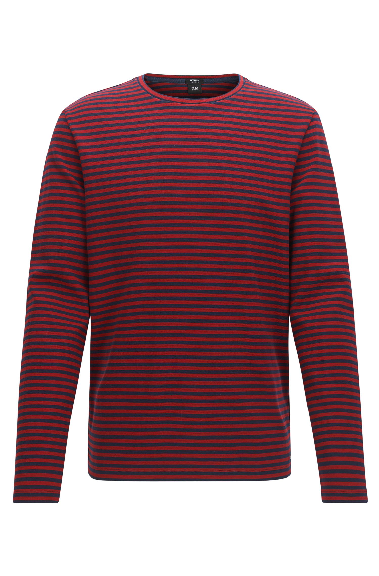 Regular-fit striped cotton jersey T-shirt