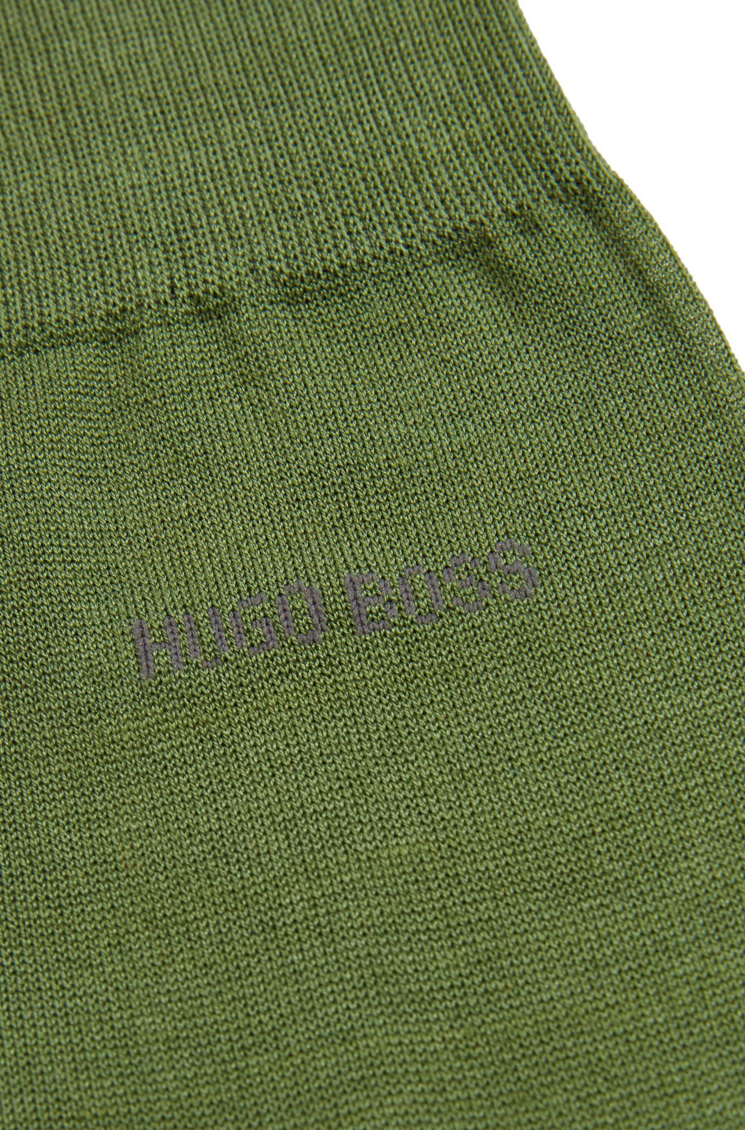 Regular-length socks in mercerised cotton