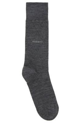 Leichte Socken aus elastischem Woll-Mix mit Baumwolle, Grau