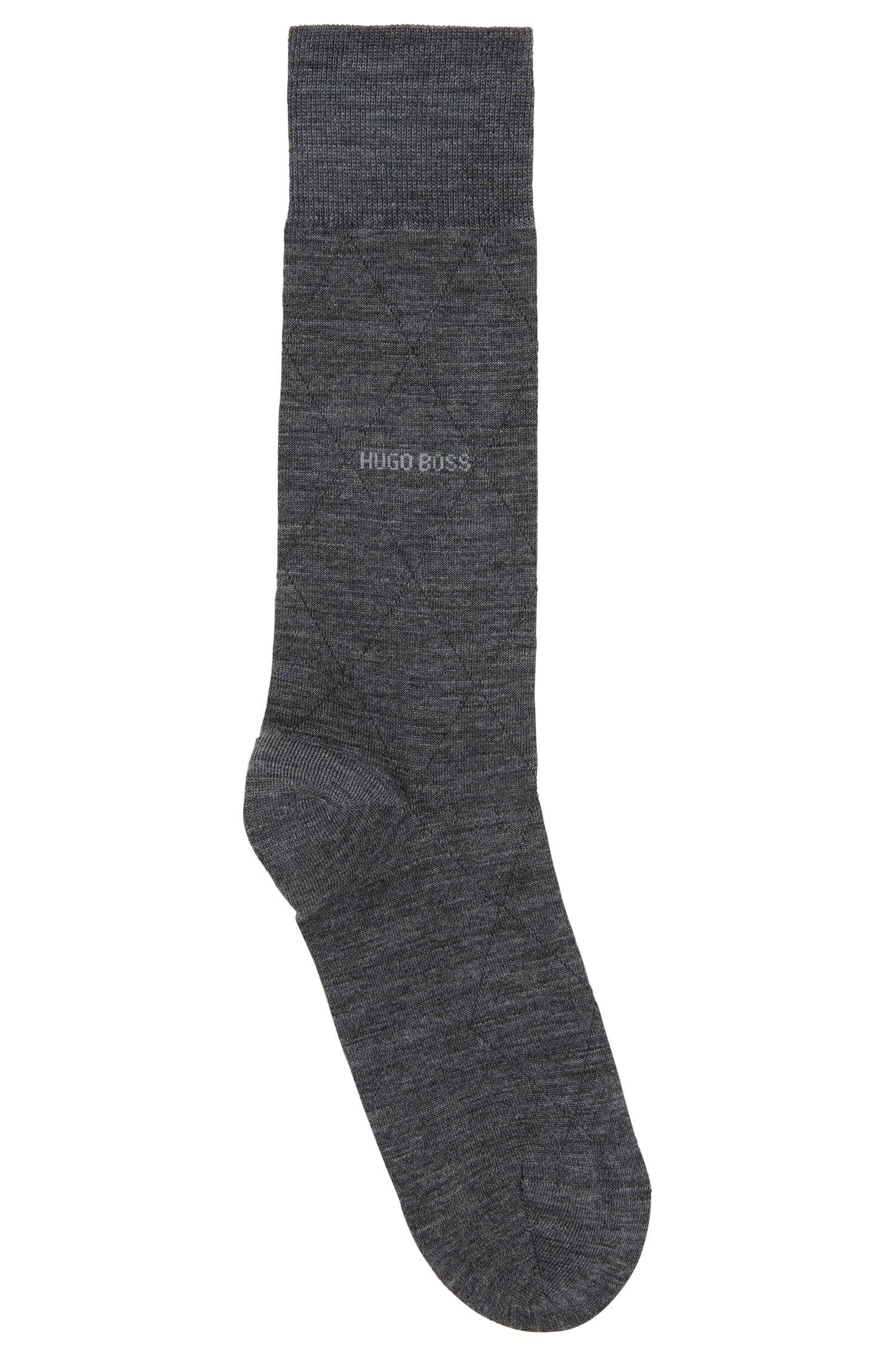 Leichte Socken aus elastischem Woll-Mix mit Baumwolle