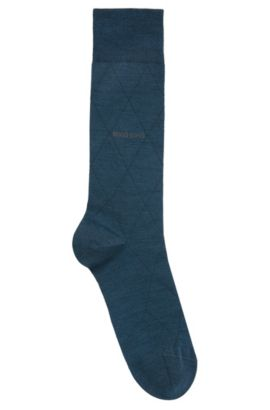 Leichte Socken aus elastischem Woll-Mix mit Baumwolle, Türkis