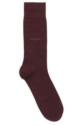 Lightweight socks in a stretch wool blend, Dark Red